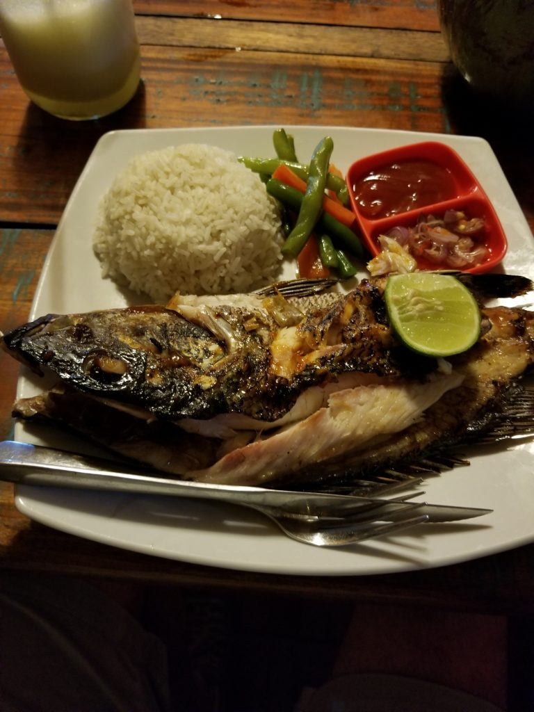 Whole fish Indonesian style Bali Indonesia