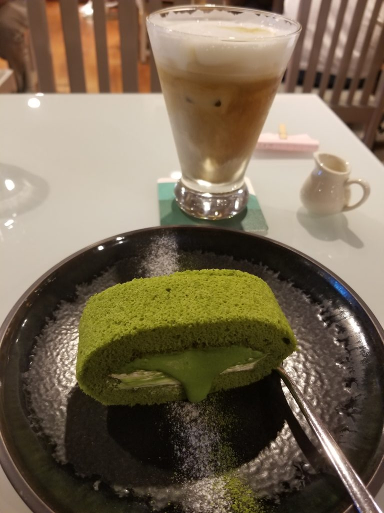 Macha green tea roll Taipei, Taiwan