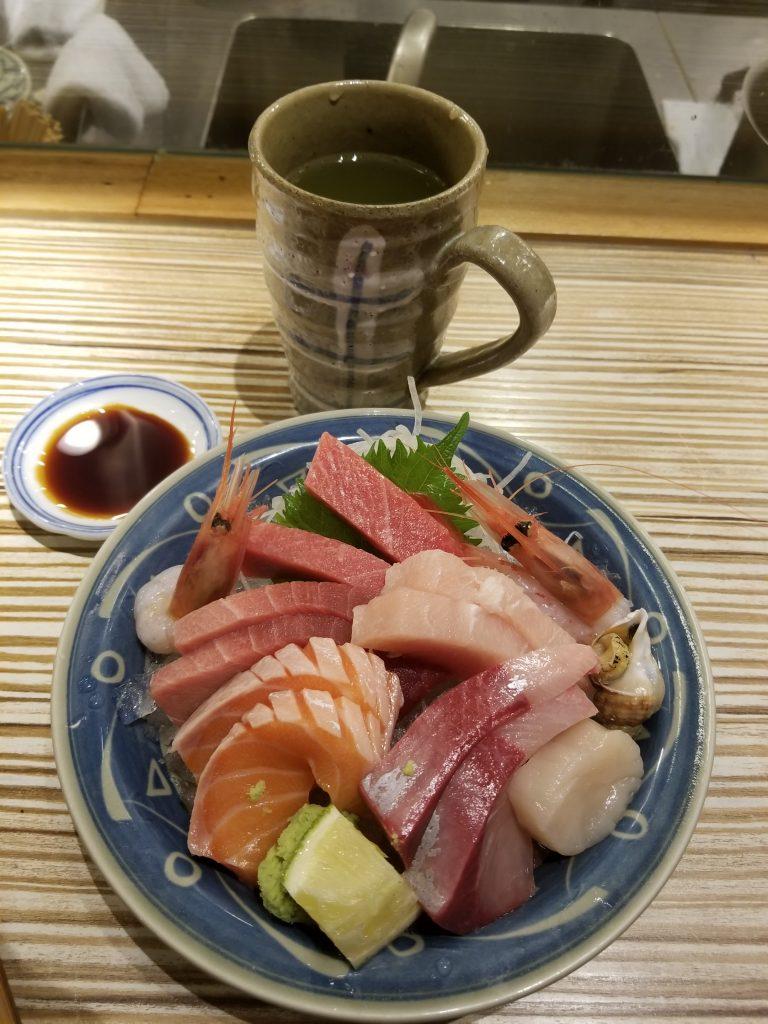 Sashimi in Taipei, Taiwan
